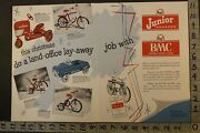 1954amf Bmf Tricycle Bicycle Pedal Car Tractor Tow Trike Roadster 2pg Toy Adtu51