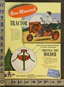 1953 Monarch Tractor Pedal Car Farm Christmas Stand Des Moines Piano Toy Ad Tq70