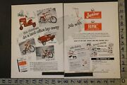 1954 Amf Roadmaster Bicycle Tractor Pedal Car Fire Cleveland 2-pg Toy Ad Tn77