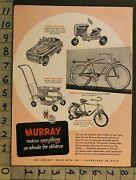 1954 Pedal Car Tractor Bicycle Baby Stroller Murray Ohio Cleveland Toy Ad Tm50