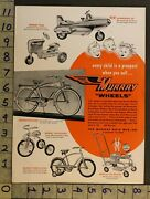 1954 Pedal Car Space Jet Tractor Bicycle Tricycle Baby Walker Murray Toy Ad Tm53