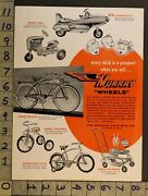 1954pedal Car Space Jet Tractor Bicycle Velocipede Baby Walker Murray Toy Adtm55