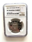 2012-w 100 Proof Platinum Eagle Commemorative Coin Ngc Pf70 Ultra Cameo