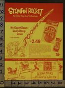 1959 Space Rocket Stompin Launch Missile Spring Horse Rempel 2-pg Toy Ad Tr50