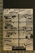 1957 Toy Ad Tootsietoys Dowst Auto Truck Fire Trailer Tractor Greyhound Busta82