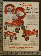1950 Steger Roy Rogers Chuck Wagon Trigger Music Instrument Sea 2-pg Toy Ad Tr13