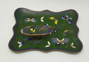 Antiques 19th Century Chinese Cloisonne Pen Stand Tray