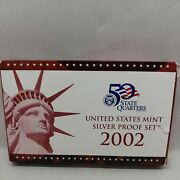 2002-s 90 Silver Proof Set United States Mint Original Government Packaging Box