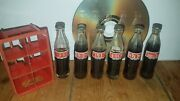 Vintage 1950s Rare Miniature Cocacola Coke Glass Bottles With Crate