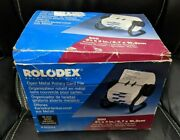 Vintage Rolodex 5024x Open Metal Rotary Card File With Dividers And Original Box