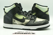 Nike Dunk High Used Size 9 Cdg Comme Des Garcons Clear Black White 917428 001