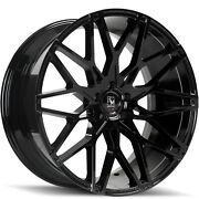 20and039and039 Giovanna Funen Wheels Gloss Black Tires Mustang Db9 Gs350 Infinity Q50 Q70