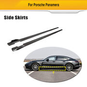 Side Skirts Body Kit Door Spoiler Fit For Porsche Panamera 17-21 Carbon Fiber