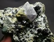 Rare Beauty Green Crystal Cluster And Ilvaiteandfluoriteandgalena Mineral Samples