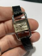 Jaeger Lecoultre Etrier Drivers Watch 1670 Hand Winding Silver Dial All Original