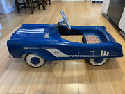 Midwest Industries Sportster Pedal Car, Blue - Original Paint, Decals, And Parts