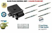 For Bmw 730d 730ld 2002-2008 Diesel Glow Plug Control Unit Relay + 6 Plugs