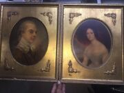 Lord Percy Ben Dover And Wife Antique Picture Revolutionary War Military