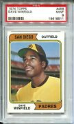 1974 '74 Topps Baseball 456 Dave Winfield Rookie Card Rc Graded Psa Mint 9