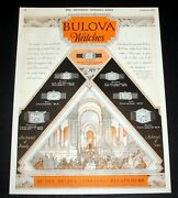 1928 Old Magazine Print Ad, Bullova Watches, At The Better Jewelers Everywhere