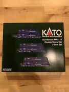 Kato N Scale Maxi-iv 3 Well Car Set Pacer With 6 Containers 6020 106-6179