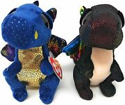 Ty Anora And Saffire Set Of 2 Beanie Boos 6 Mwmt's Free Shipping
