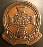 4 Usmc Marine Corps Hmla-169 Vipers Helicopter Squad Antique Look Leather Patch