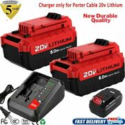 18v Battery /20v Charger For Porter Cable Pcxmvc Lithium Nicd Nimh Pc18b Pc18blx