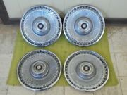 71 72 73 Buick Hub Caps 15 Set Of 4 Wheel Covers 1971 1972 1973 Hubcaps Finned