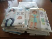 Lot Of 29 Vintage Sewing Patterns Mccalls, New Look, Simplicity, Etc.