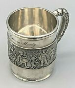 And Co. Sterling Silver Mug Featuring A Childrenand039s Parade Circa 1899