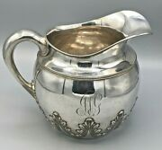 Antique Shreve, Crump And Low/ Goodnow And Jenks Sterling Silver Water Pitcher