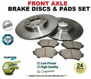 Front Axle Brake Discs And Brake Pads Set For Audi Tt 3.2 Vr6 Quattro 2003-2006