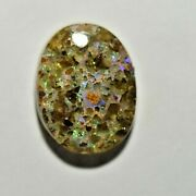 Louisiana Opal Cabochon Natural Untreated Oval 5.00 Tcw Large Pin Fire