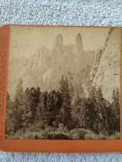 Stereoview Cathedral Spires Yosemite C.e. Watkins Stereograph