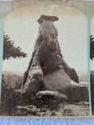 Stereoview Tepee Tower F Jay Haynes Stereograph 1880s