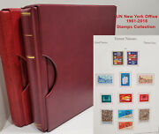 Un New York 1951-2015 Stamps Collection In 2 Kabe Binders And Some Loose Sheetlets