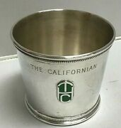 Vintage Ancient Title And Co 1976 Stakes Race Sterling Silver Julep Cup