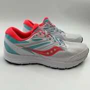 Saucony Women's Cohesion Trail 13 Running Shoes S10561-2 White/pink/aqua Size 12