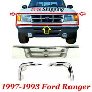 New Ford Ranger Pickup 2-door Fits1995-1997 Front Grille And Grille Molding Chrome