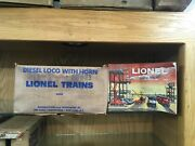 Lionel O27 Gauge 1608w Set Box - Box Only - For 209 Nh Aa Set - Hard To Find