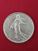 1964 France La Semeuse French Sower Woman Old Large Silver 5 Francs Coin