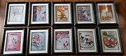 10x Tennessee Football Program Vintage Framed Lot 1925-1968 Set Reproductions
