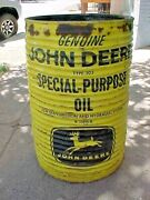 Vintage John Deere Ribbed Oil Can 55 Gallon Drum Special Purpose Four Legged
