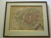 Antique Map Of Groningen 16th To 17th Century Hand Colored Braun And Hogenberg