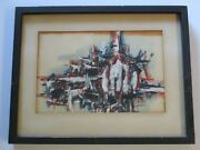 Georges Noel Bedard Painting 1950and039s Rare Abstract Expressionism Paris New York