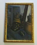 Old Modernist Painting With Phone And Burning Cigarette Still Life Soutine