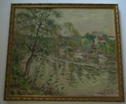 Finest Melville Anton Fisher Oil Painting New York California Impressionist 1920