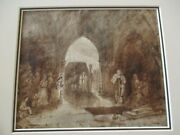 Antique Old Master Painting Signed D With Quote On The Back 18th - 19th Century