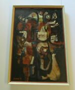 Vintage Large Abstract